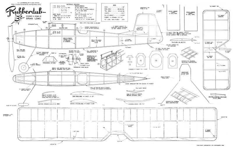balsa wood rc plane plans