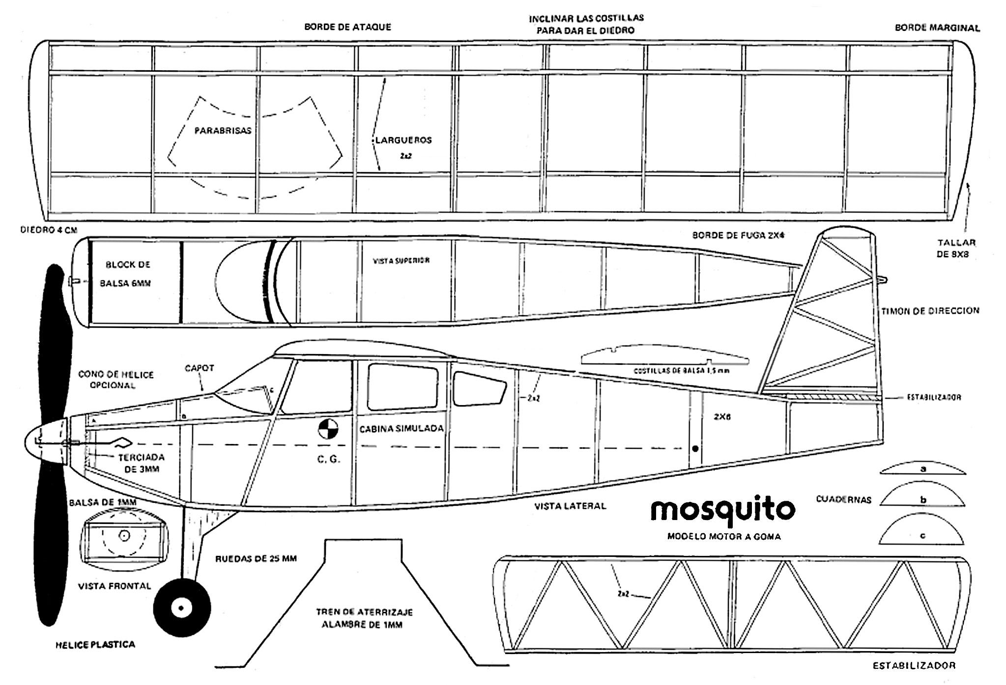 MOSQUITO – Pájaro de Madera