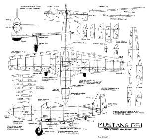 Mustang-P51-Plano-Aeromodel
