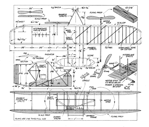 Wright-Biplane-Plan