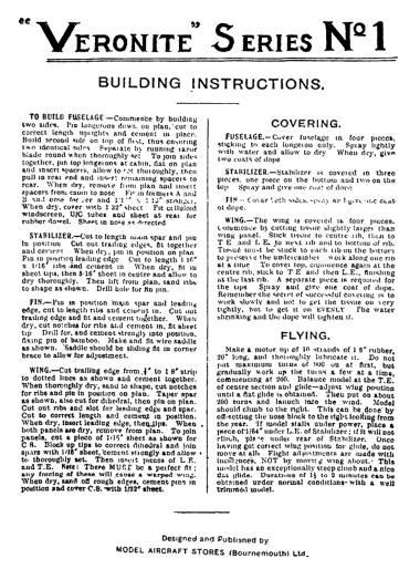 Veronite n°1-1939.Nota